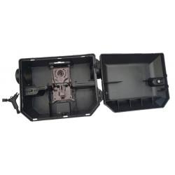 Piège à rat professionnel pour extérieur, en position ouverte, incluant une tapette à rat professionnelle