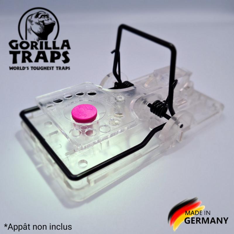 Tapette à rat Gorilla Traps transparente avec appât Nara arôme viande