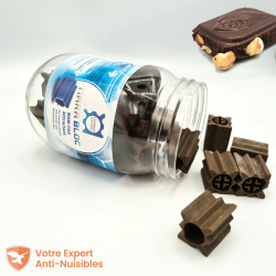 Ces blocs Nara leurrent parfaitement l'arôme chocolat noisette