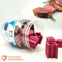Ces blocs Nara® leurrent parfaitement l'arôme de la viande