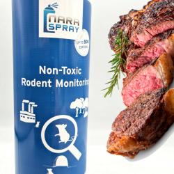 Spray Nara® attractif 500ml : son puissant arôme viande attire rat et rongeur dans votre piège.