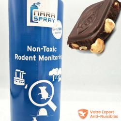 Spray attractif Nara® 500ml arôme chocolat noisette vue détaillée.