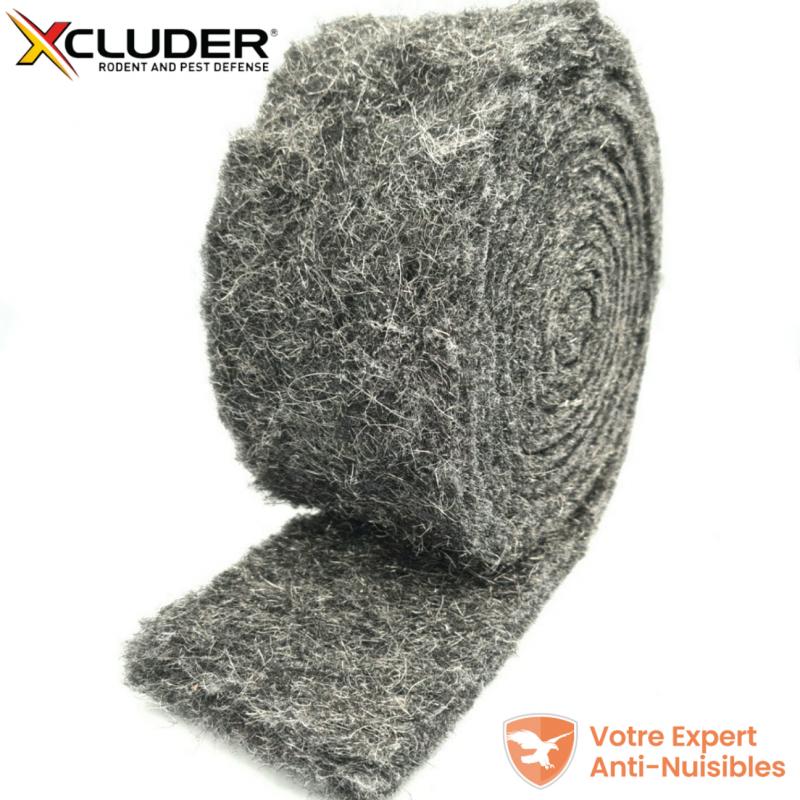 XCLUDER tissu de remplissage barrière anti rongeur 3 mètres, enroulé sur lui-même.